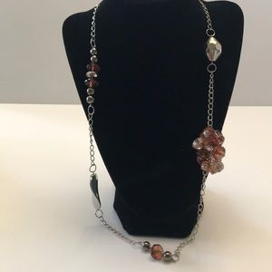 5/$20 Paparazzi brown and silver colored necklace